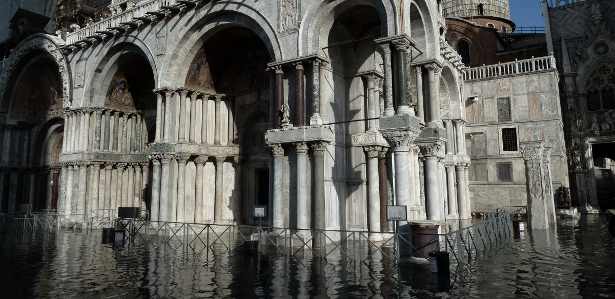 Ground floors of many building overtaken by the floods