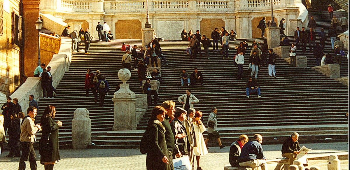The spanish steps before the ban